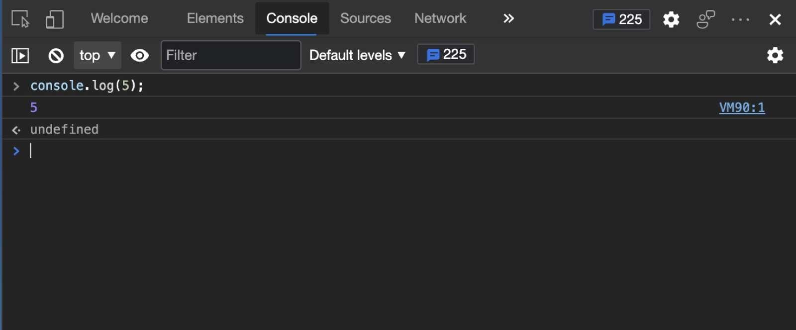 JavaScript Console in Microsoft Edge browser