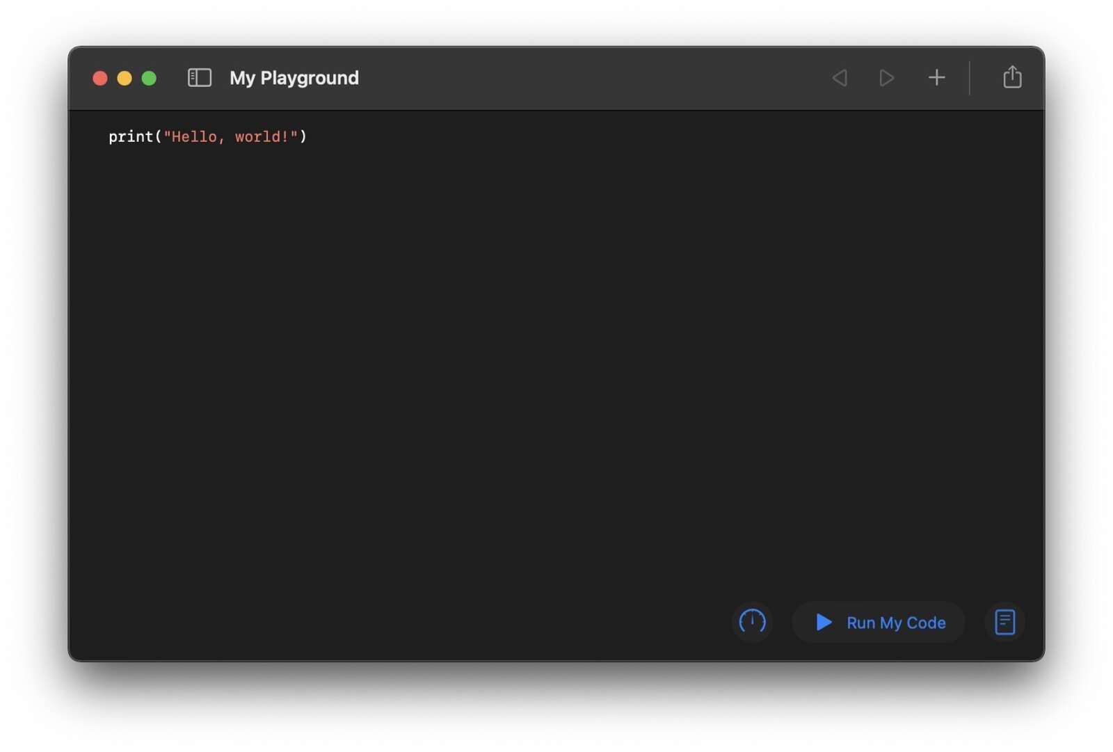 First Swift code